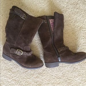 Lands End Brown Suede Girls Boots